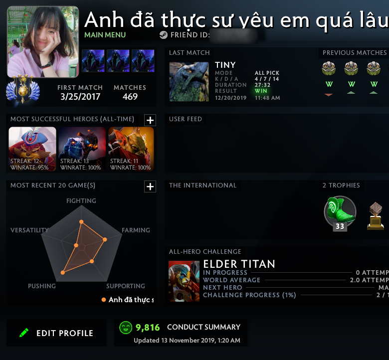 Divine IV | MMR: 5360 - Behavior: 9816