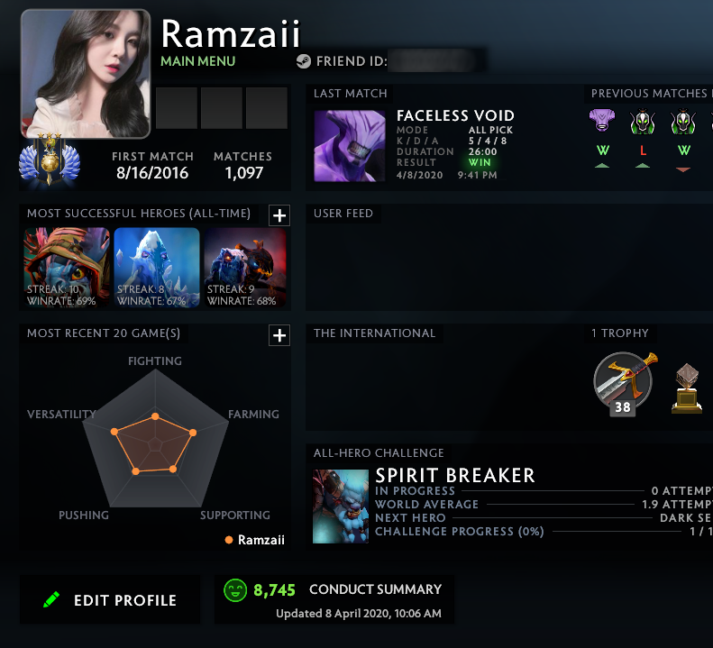 Divine III | MMR: 5000 - Behavior: 8745