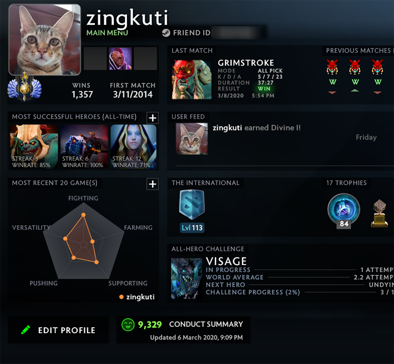 Divine I | MMR: 4790 - Behavior: 9329