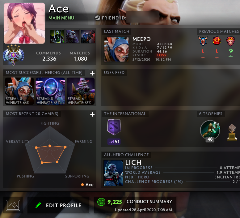 Ancient V | MMR: 4330 - Behavior: 9225