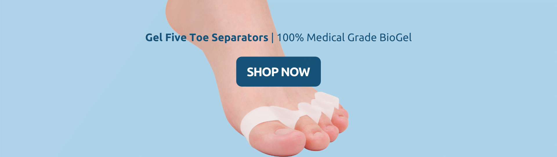 Buy Gel Five Toe Separators With 100% BioGel