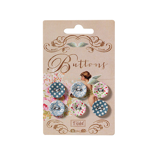 Blue Tilda Buttons - 15mm