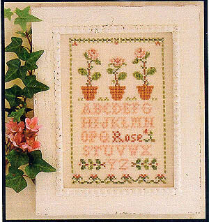 Rose Sampler Cross Stitch Pattern