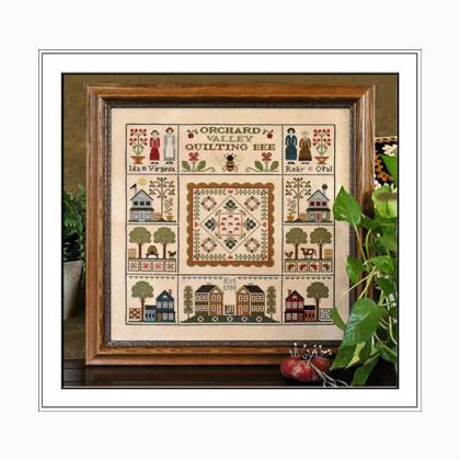 Orchard Valley Quilting Bee Cross Stitch Pattern