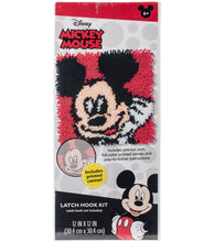 Load image into Gallery viewer, Mickey Mouse Latch Hook Kit