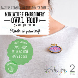Mini Hoop Jewellery Small Horiz Brooch