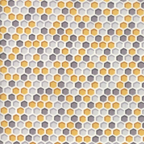 Bee Word Honey/Grey Fabric