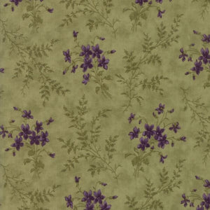 Violets & Ferns Leaf Fabric