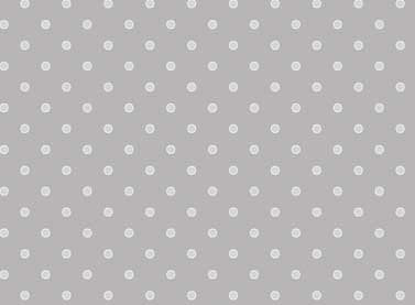 Bascially Hugs - Small White Dots on Grey