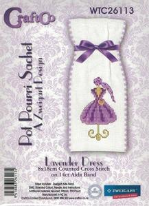 Lavender Dress Cross Stitch Kit