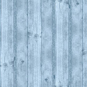 Wood Texture Blue Fabric