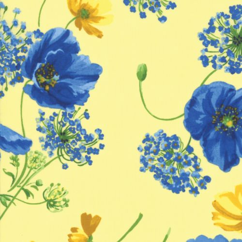 Breezy Blooms - Yellow Fabric