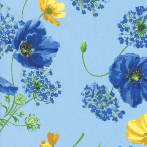 Breezy Blooms - Sky Fabric