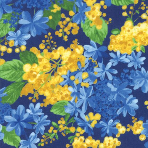 Blossoms & Buds - Navy Fabric