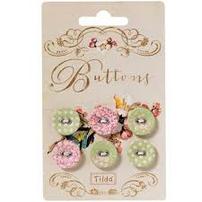 Green And Pink Tilda Buttons - 15mm