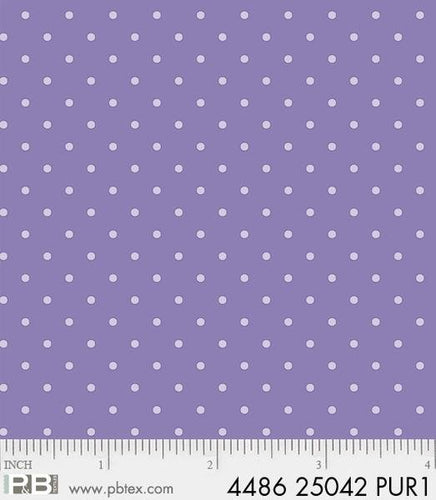 Lavender Cream Dot Fabric