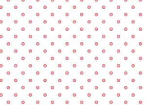 White With Pink Dots Fabric