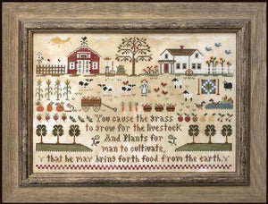 Farm Life Cross Stitch Pattern