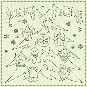 Sashiko Square - Season Greetings