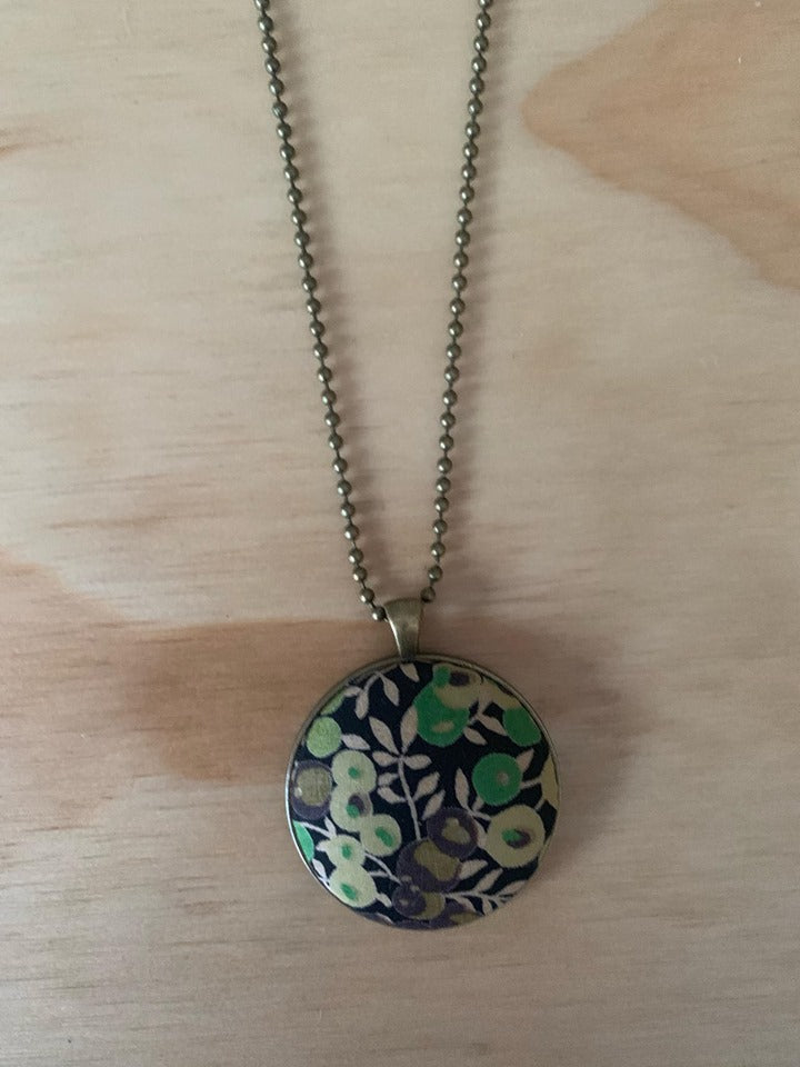 Greens Fabric Necklace