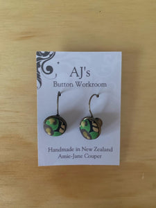 French Hook Earrings Green