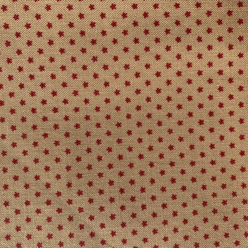 Piquette Oyster/Rouge Fabric