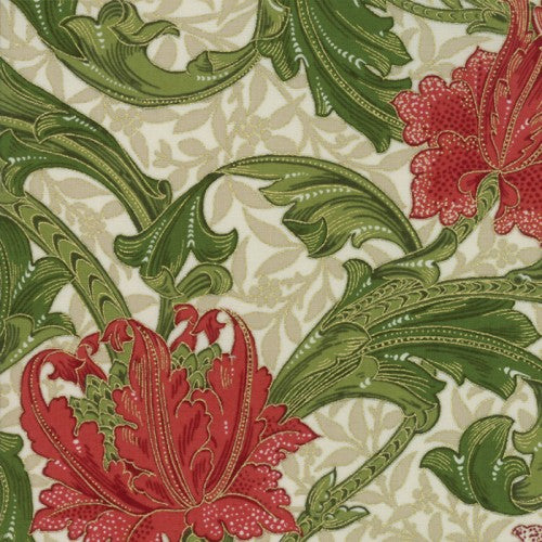 1905 Single Stem Linen Fabric