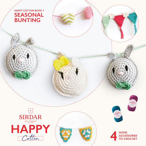 Happy Cotton Seasonal Bunting Pattern Book