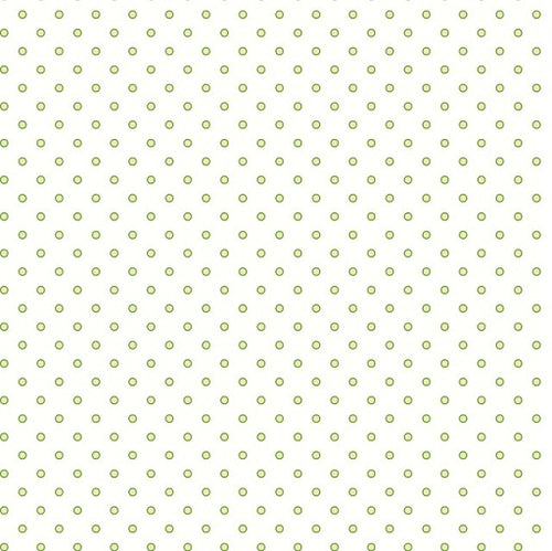 Cream With Green Dots Fabric