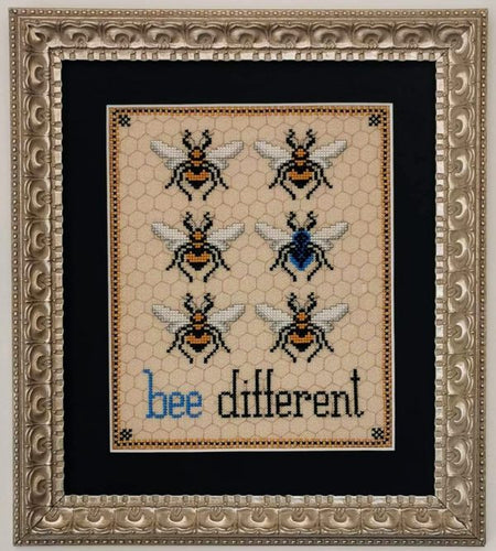 Bee Different Cross Stitch Pattern