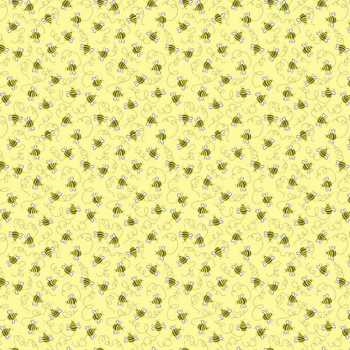 Tiny Bees Fabric Yellow