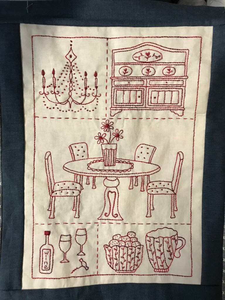 The Dining Room Stitchery Pattern