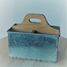 Load image into Gallery viewer, Rectangular Metal & Wood Caddy