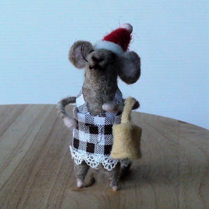 Ma & Pa Mice Standing Ornament