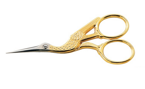 Gold Stork Embroidery Scissors
