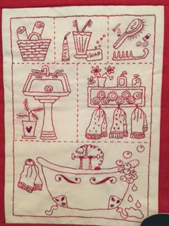 The Bathroom Stitchery Pattern