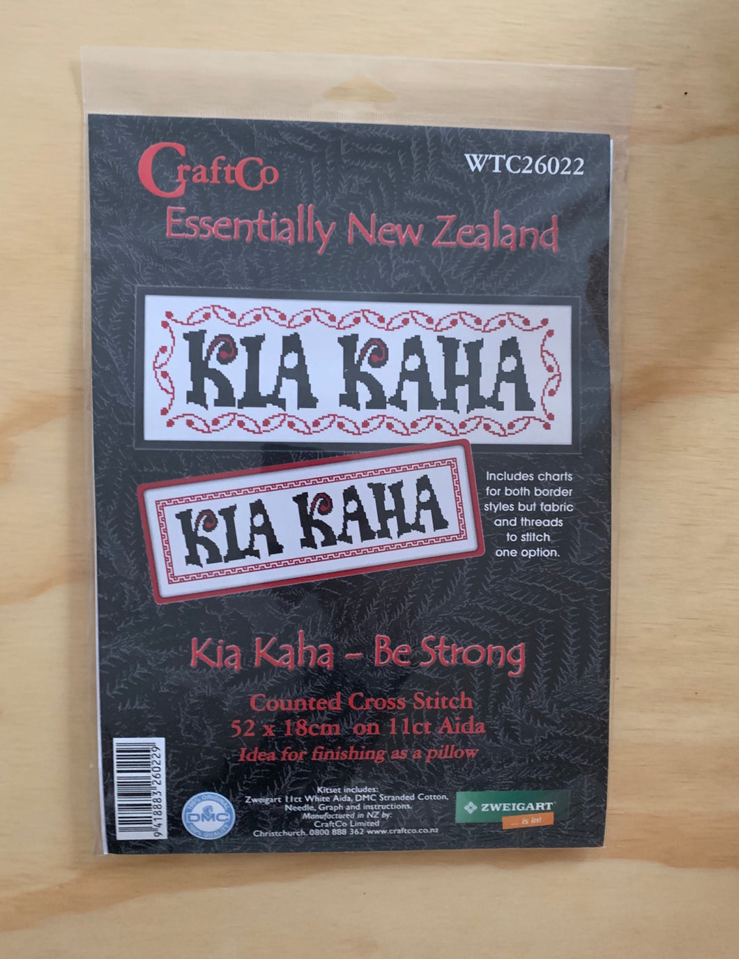 Kia Kaha Cross Stitch