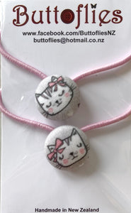 Button Hair Tie - Pretty Kitty