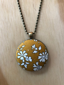 Mustard/White Floral Necklace