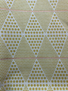Diamonds- Chartreuse/Gold Fabric
