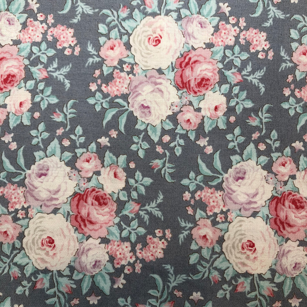 Old Rose Lydia Grey Fabric