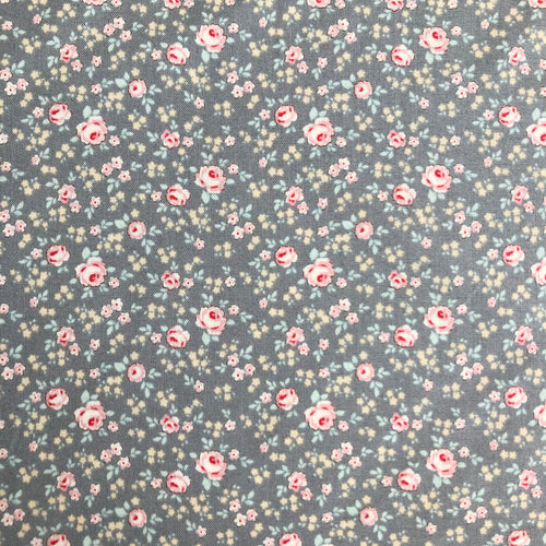 Old Rose Eliza Grey Fabric