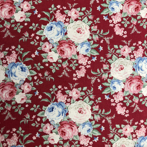 Old Rose Lydia Raspberry Fabric