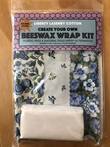 Beeswax Kit - Blue & Cream Garden
