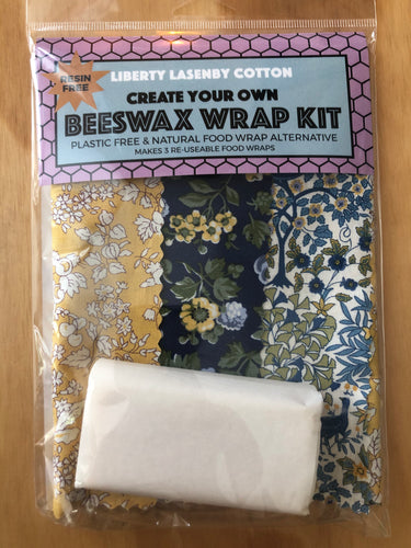 Beeswax Kit - Blue & Mustard Garden
