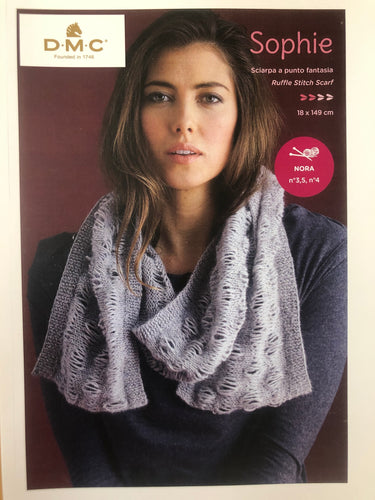DMC Ruffle Stitch Scarf Instruction Leaflet - Sophie