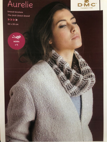 DMC The Drift Stitch Snood Instruction Leaflet - Aurelie