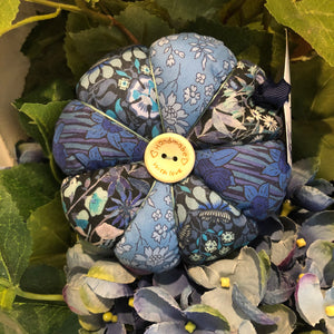Blue Floral Liberty Fabric Pin Cushion