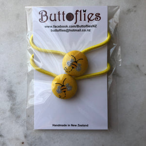 Button Hair Tie - Buzzy Bee