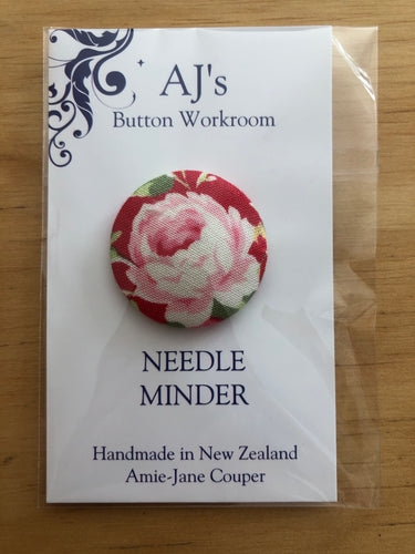 Needle Minder Red With Rose